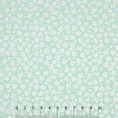 Tecido Tricoline Floral - Trevos Fundo Verde Claro