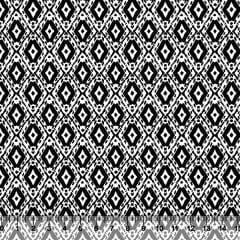 Tecido Tricoline Formas Black