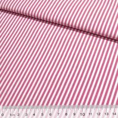 Tecido Tricoline Listras M - Rosa Pink