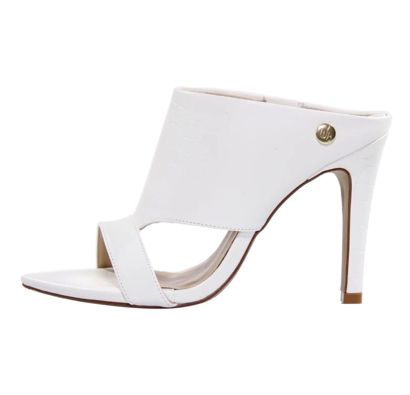 fb8866722e Mule Salto Alto Branco – Week Shoes  Conforto e estilo