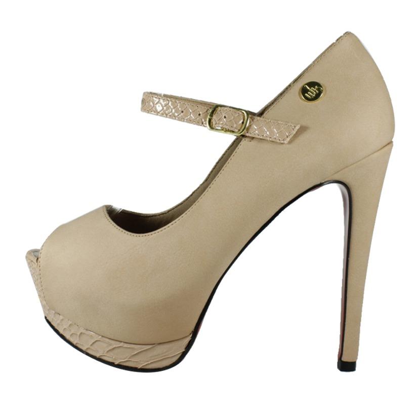 6ba71c0f4 Peep Toe Salto Alto Meia Pata Nude - Week Shoes: O básico estiloso!