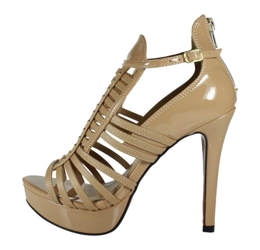 58ecb719d Sandália Gladiadora Nude – Week Shoes  Parcelamento em até 4X SEM ...