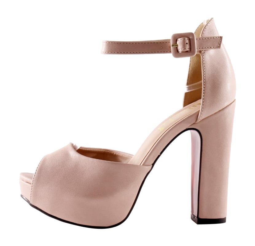 dcdea5ffdd Sandália Salto Grosso Meia Pata Nude - Week Shoes: É confiável?