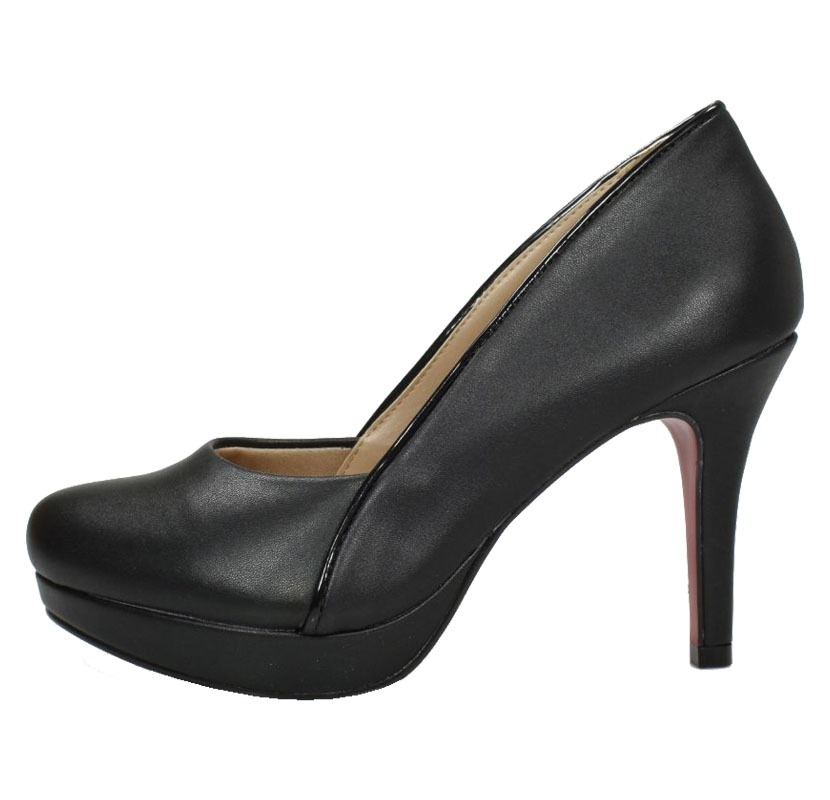 66359f08f5 Scarpin Bico Redondo Week Shoes Salto Médio Preto - Week Shoes