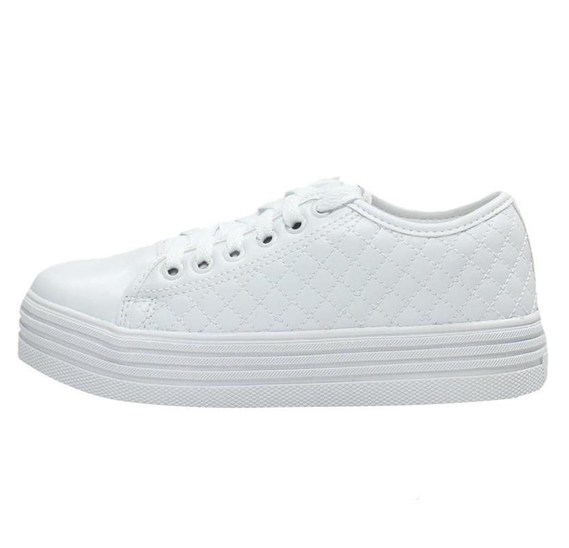 8e32fc32821 TÊNIS EM NEW PELE BRANCO - Week Shoes