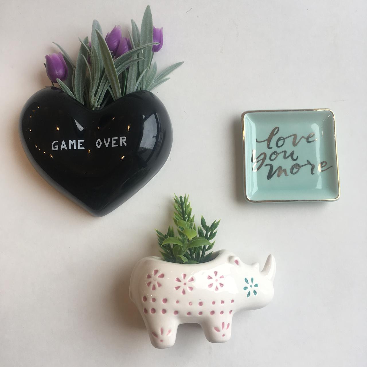 vaso parede coração