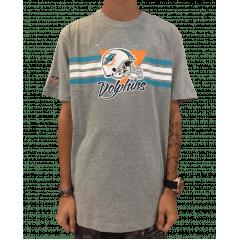 Camiseta New Era Dolphins Mescla Cinza