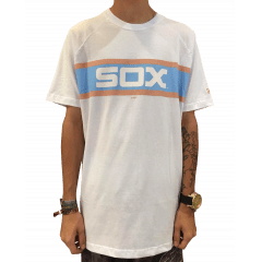 Camiseta New Era White Sox Fox Branca