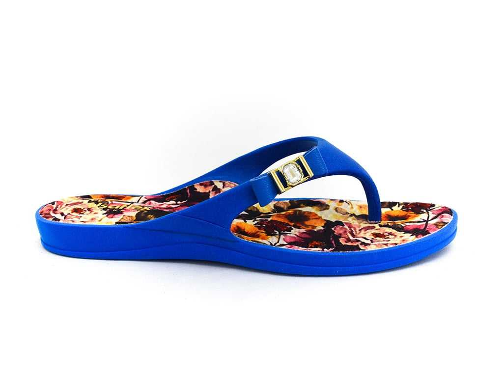 8109ae030 Chinelo Usaflex S4503 Azul/Floral