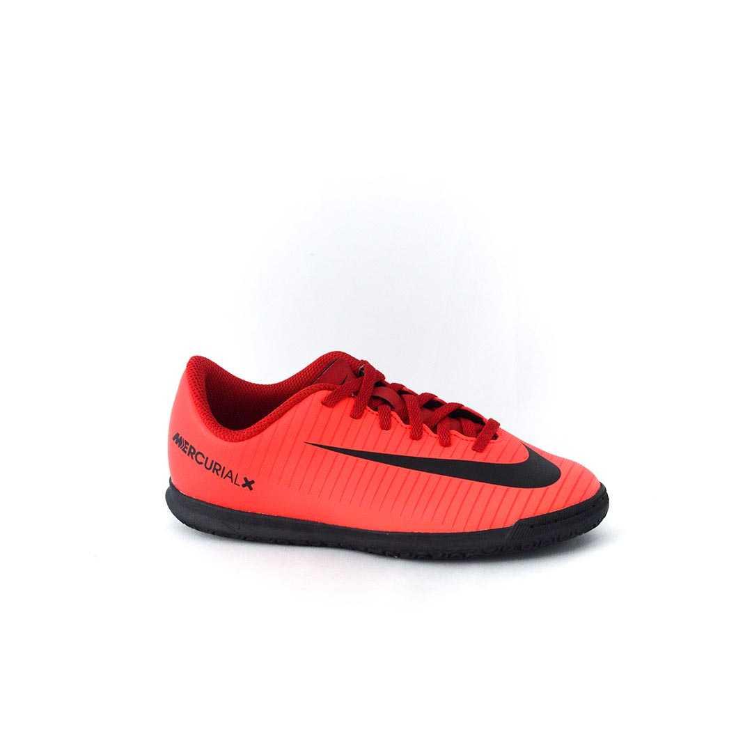 Tênis Nike JR MercurialX Vortex III IC Futsal Vermelho 42db6b3ba588a