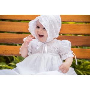 Kit Batizado Mandrião e Touca Renda Algodão
