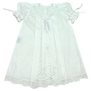 Vestido Renda Renascença Branco Laura - 1 ano
