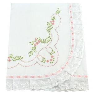 Manta Floral Rosa