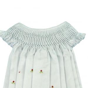 Vestido Casinha de Abelha Branco Moranguinho - 2 anos