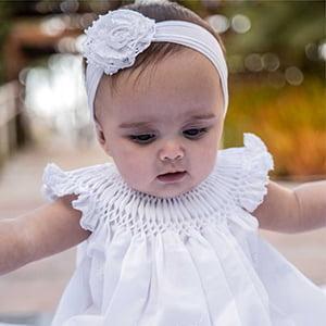 Vestido Casinha de Abelha Renda Renascença - 6 meses