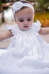Vestido Casinha de Abelha Renda Renascença - 1 ano
