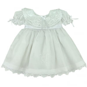 Vestido Renda Renascença Maitê - 0 a 3 meses