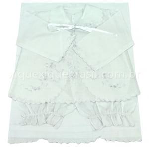 Pagão 4 Peças Laço Branco