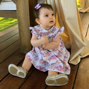 Vestido Casinha de Abelha Borboleta - 9 a 12 meses