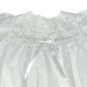 Vestido Renda Renascença Três Ordens - 6 meses