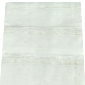 Fralda Renda Renascença branca poá branco (3 unid.)