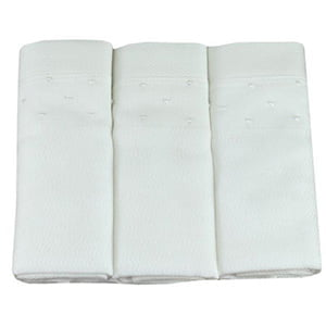 Fralda bordada poá branco coleção (3 unid.)