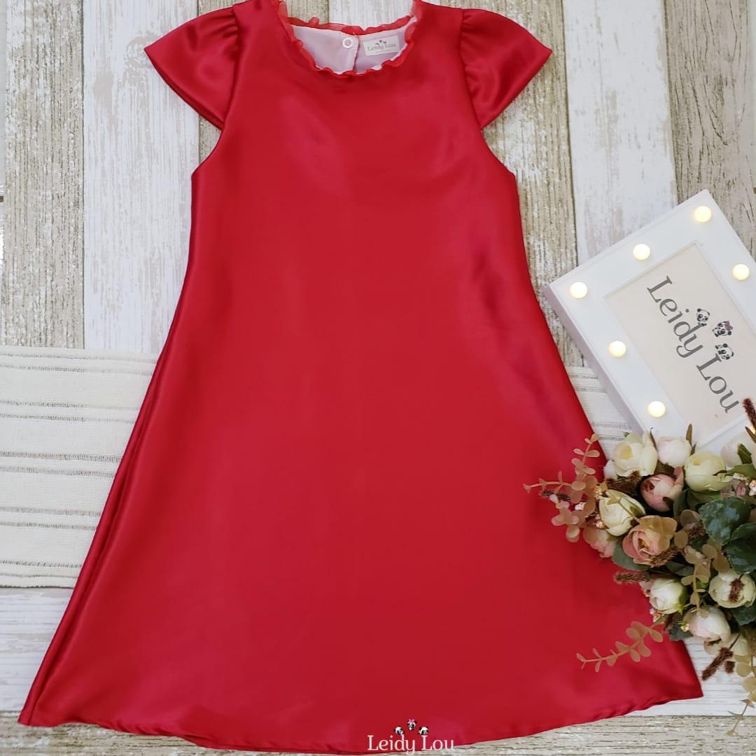 Vestido Infantil Casual Vermelho