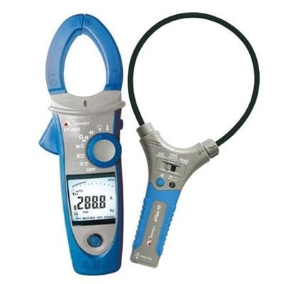 Alicate Wattímetro Trifásico/Fasímetro  CAT IV True RMS - 3000 A c/ NCV, Inrush, THD - Minipa ET-4095