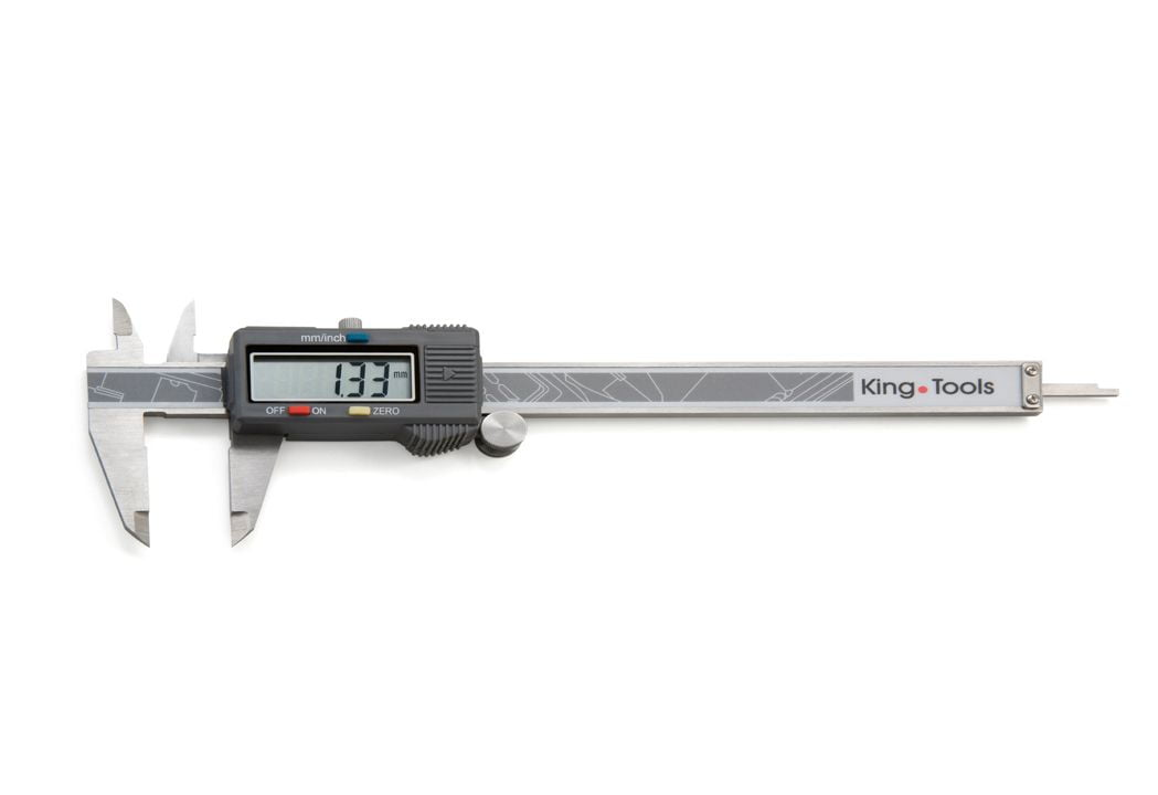 Paquímetro Digital com Dígitos Extra Grandes - (150mm/6 - 0,01 mm/0,005) - King Tools - 502.150BL