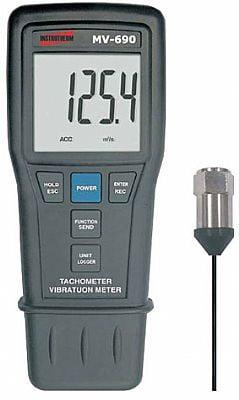 Medidor de Vibração /Tacômetro/Veloc/Acel /Desloc/RS-232/Data Logger - MV-690