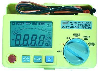 Megômetro com  Data Logger e RS-232 (4GΩ/1KV)  CAT II - MI-346