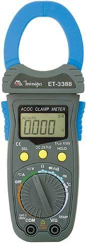 Alicate Amperímetro True RMS 1000ACA/CC  CAT II  Minipa - ET-3388