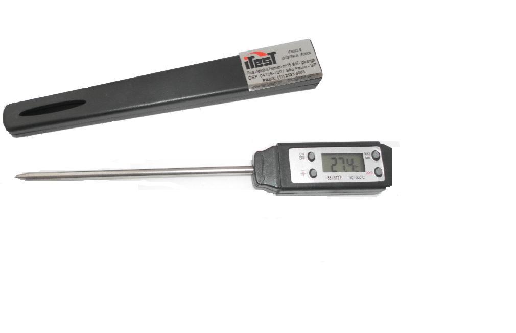 Termômetro Espeto (-50,0 a +300°C) - Itest  TDP-4E