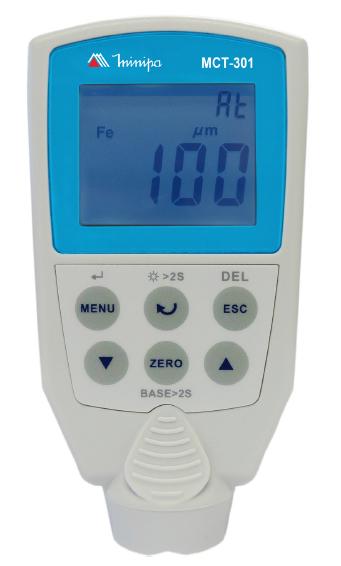 Medidor de Espessura de Camada  - Base Ferrosa c/ Data Logger - Minipa - MCT-301