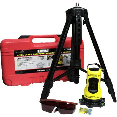 Nível Laser Horizontal e Vertical Base Giratória  c/ botão de trava e tripé  Lee Tools - 670531