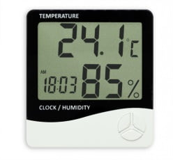 Termo-Higrômetro Relógio Máx/Mín (Temp. Int) - TH-01 c/ Certificado
