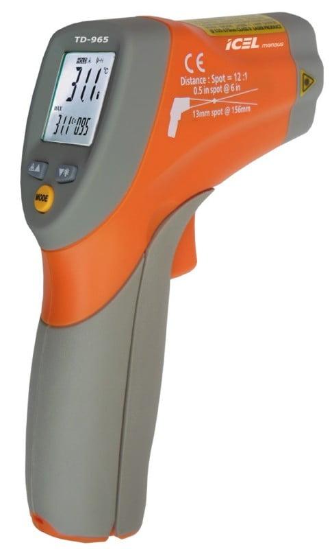 Termômetro Infraverm (-50 a +550ºC - 12:1) laser duplo - TD-965