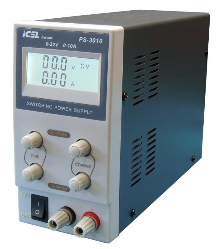 Fonte de Alimentação DC Assimétrica (32V/10A-Simples) - PS-3010