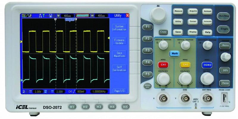 Osciloscópio 70MHz 2 canais LCD 1GS/s - DSO-2072