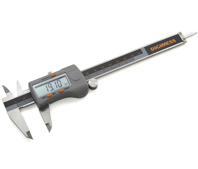 "Paquímetro Digital com Dígitos Extra Grandes - (150mm/6"" - 0,01mm/0,005"") Digimess - 100.174BL"