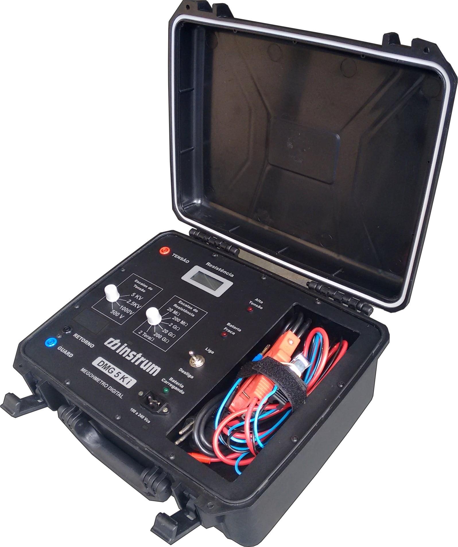 Megômetro (2TΩ/5KV)   Instrum  DMG-5Ki