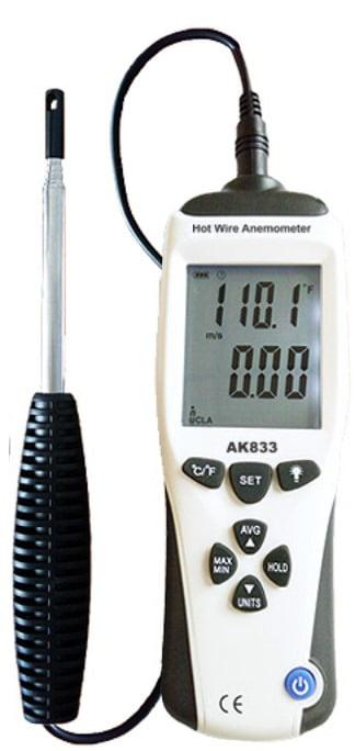 Termo-Anemômetro de Fio Quente - AK-833