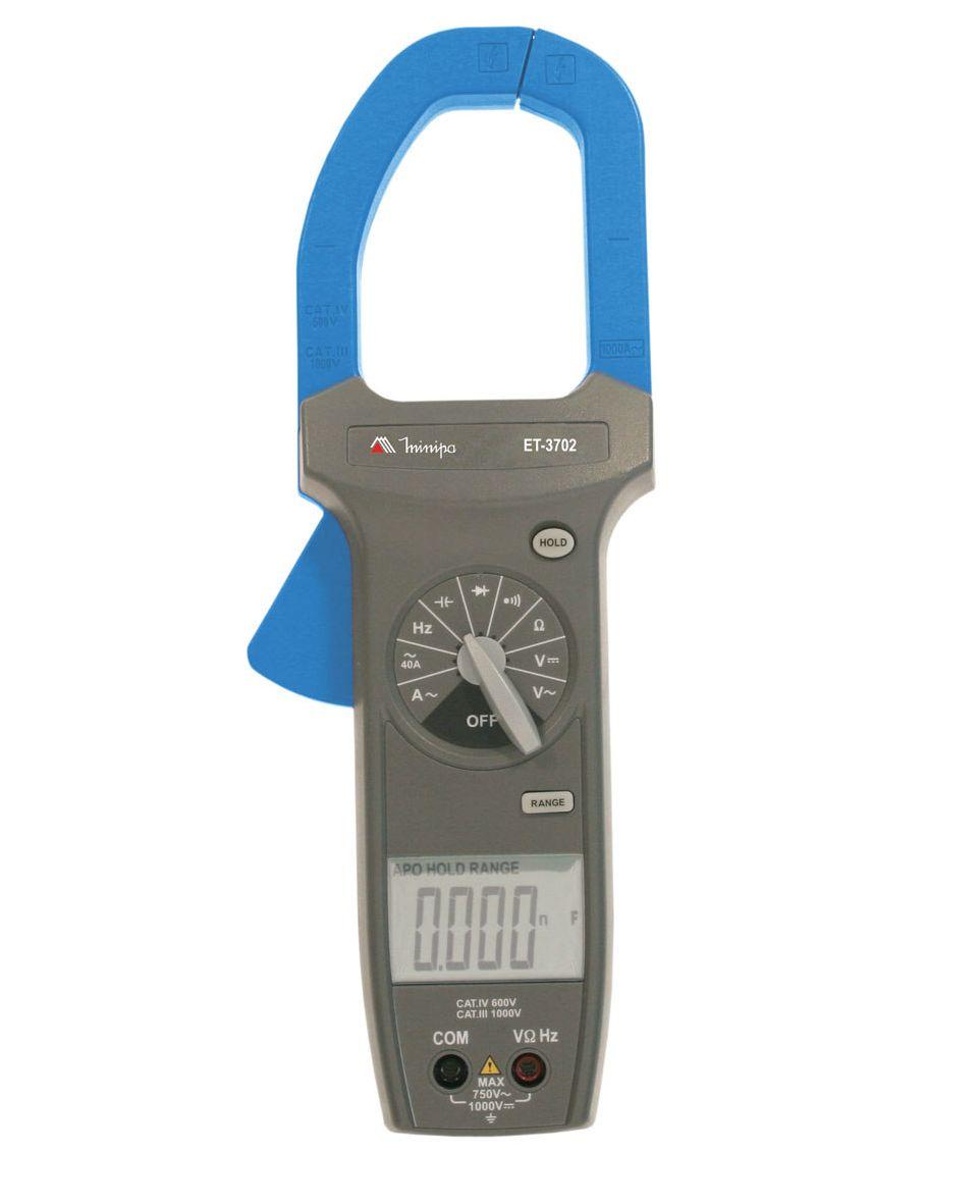 Alicate Amperímetro 1000ACA - True RMS - CAT IV - Minipa - ET-3702A