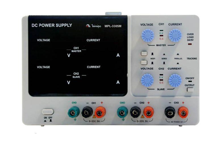 Fonte De Alimentação DC Simétrica (32V/5A-dupla) - Minipa - MPL-3305M