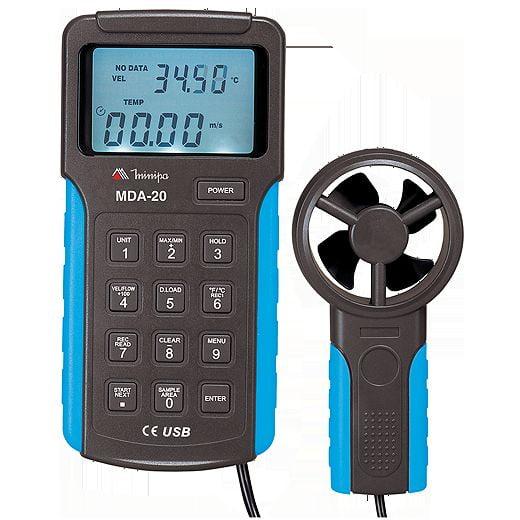 Termo-anemômetro c/ Data Logger e USB  Minipa - MDA-20