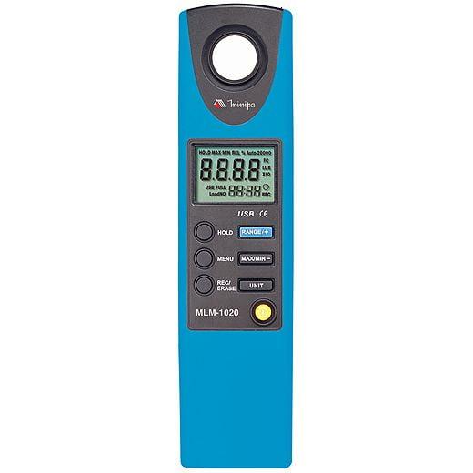 Luxímetro 20.000 Lux c/ Data Logger e USB Minipa - MLM-1020