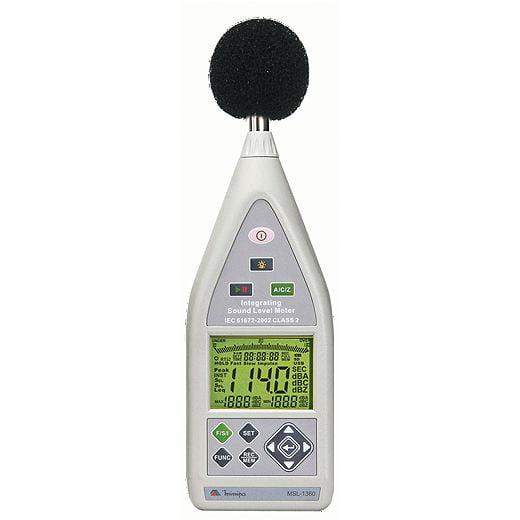Decibelímetro - Tipo 2  c/ Data Logger - USB - SPL/LEQ/RT60 - Microfone destacável e Atende a Norma de Inspeção Veicular - Minipa  MSL-1360