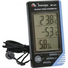 Termo-Higrômetro-Relógio Máx/Mín (Temp Int/Ext) - Minipa - MT-241