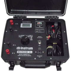 Micro-Ohmímetro/Ponte Kelvin (200ohms/10A) - Instrum - Microhm 10i