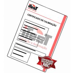 Certificado de Calibração para Medidor de Espessura de Chapas